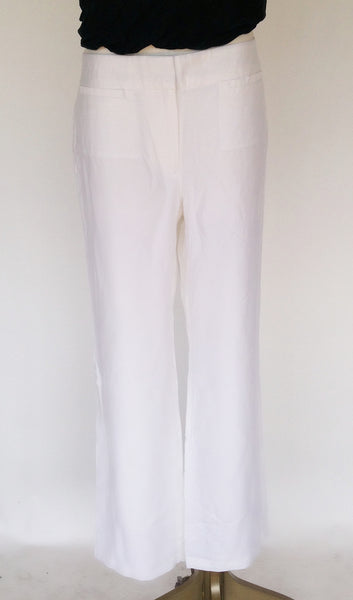 Chicos Travelers Welt Pocket Pant (White)