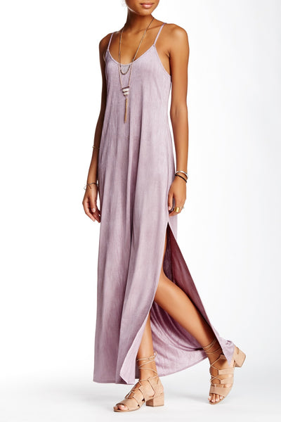 Free People She Moves Maxi Slip Dress