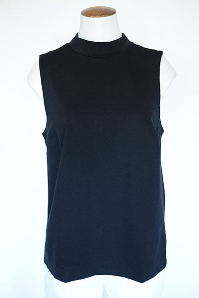 Banana Republic Mock Turtleneck Sleeveless Tank- Black