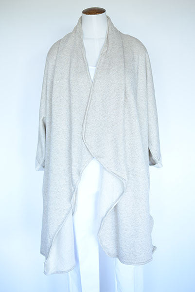 Long Open Sweatshirt Cardi