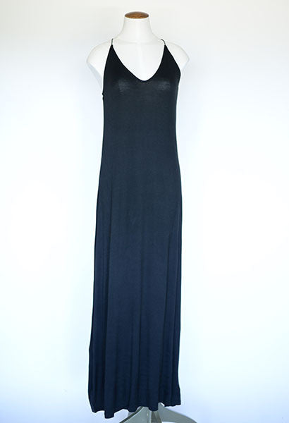 Ann Taylor Racer Back Cami Maxi Dress- Black