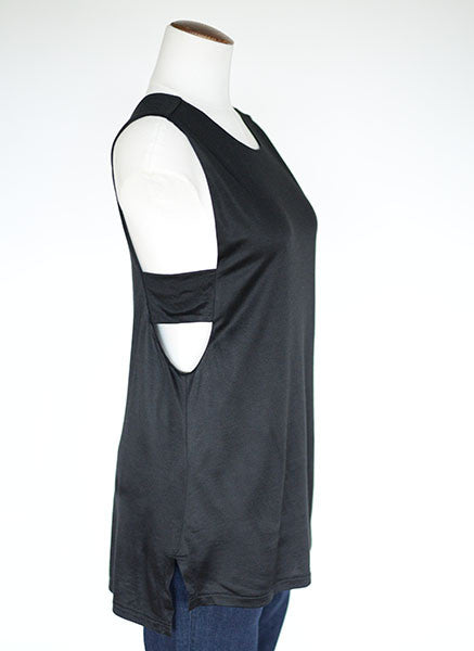 Banana Republic Cut-out Side Tank- Black