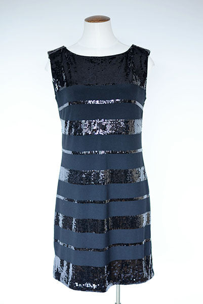 White House Black Market Sequin Dress - Black
