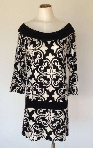 White House Black Market Paisley Sweater Dress