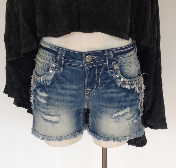 Miss Me Mid-Rise Denim Shorts