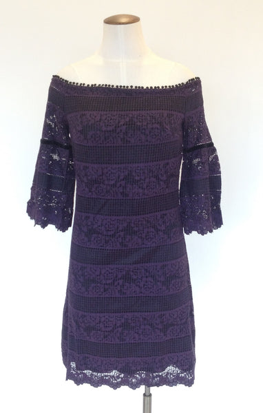White House Black Market Off Shoulder Lace Dress