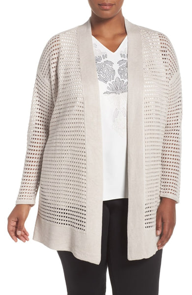 Nic + Zoe Plus Size Summer Soiree Open Front Cardigan