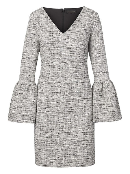 Banana Republic Print Bell Sleeve Dress