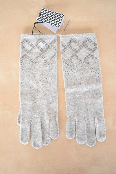 Diane Von Furstenberg Chainlink Embel Knit Gloves