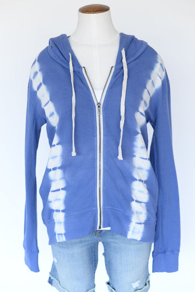 Marc New York Tie Dye Zip Up Hoodie - Blue