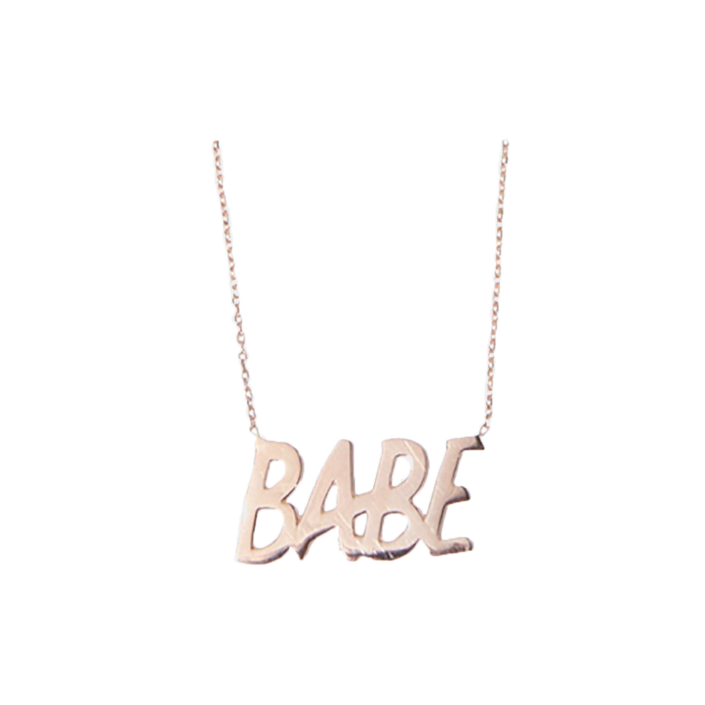 BABE Nameplate Necklace