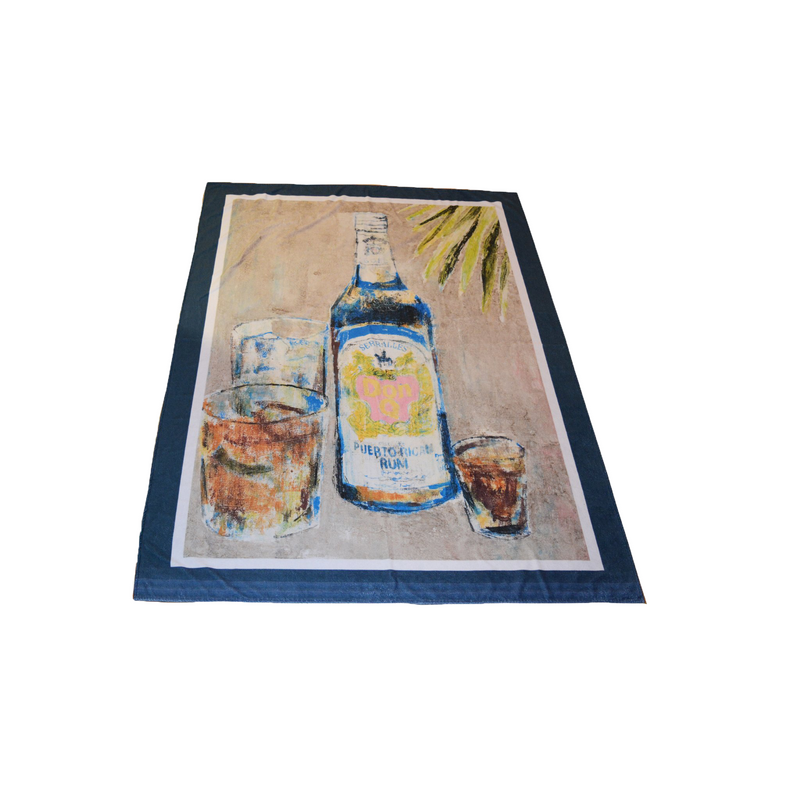 Don Q Beach Towel