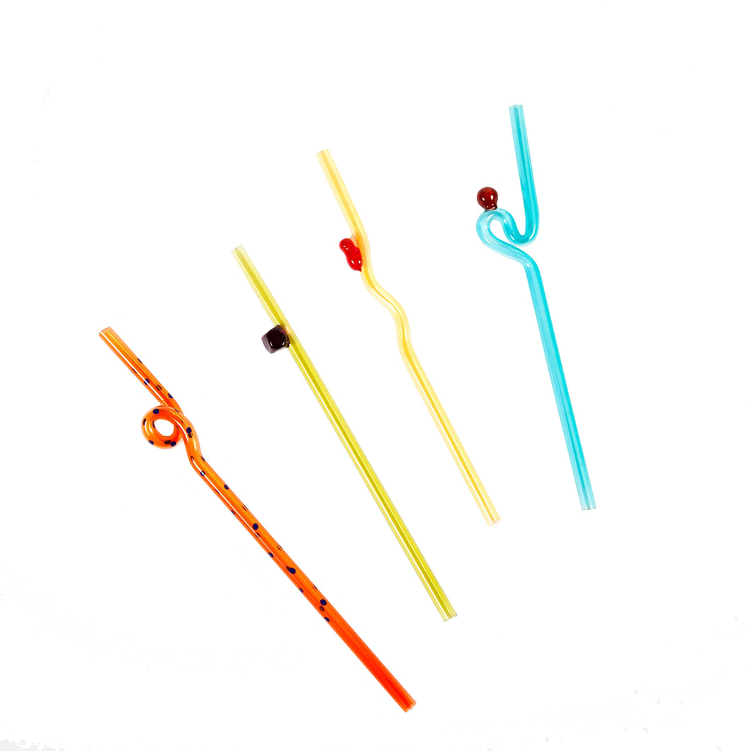 Bellyflop Glass Straw Set