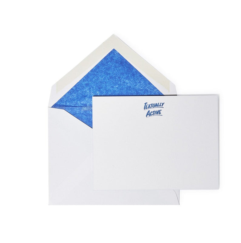 Textually Active Stationery
