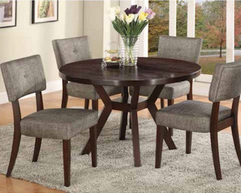 Kayla Dining - Dining Table & 4 Side Chairs (2610) by Crown Mark