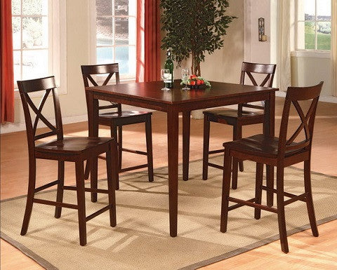 Theodore 5 Piece Counter Height Dining Table Crown Mark 2753