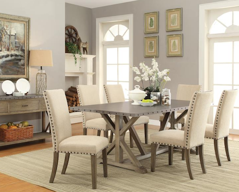Webber Metal and Wood 5 Piece Dining Set	105571-S5