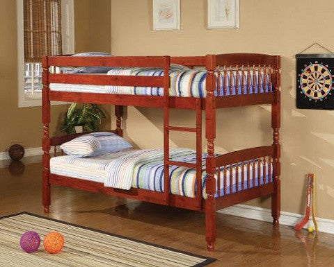 TWIN OVER TWIN WOOD BUNK BED COASTER 460221