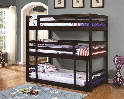 Triple Layer Bunk Bed Coaster 400302