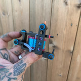 Pink & Blue Jazzy Drilled Bulldog Power Liner
