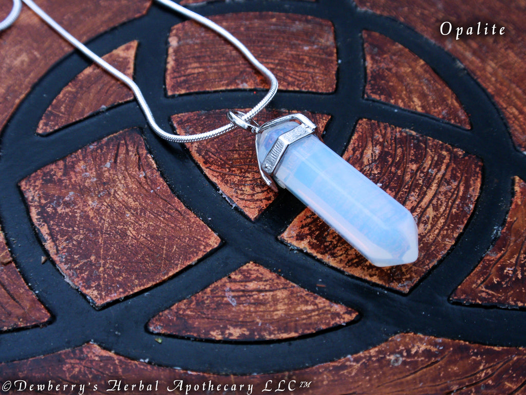 Opalite pendant pendulum necklace communication divination opalite pendant pendulum necklace communication divination transition psychic awareness scrying aloadofball Image collections