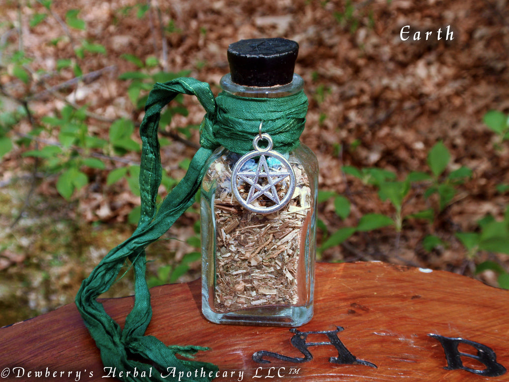Earth Incense Bottle For Elemental Work Watchtower Magick Sacred Off Dewberry S Herbal Apothecary Llc