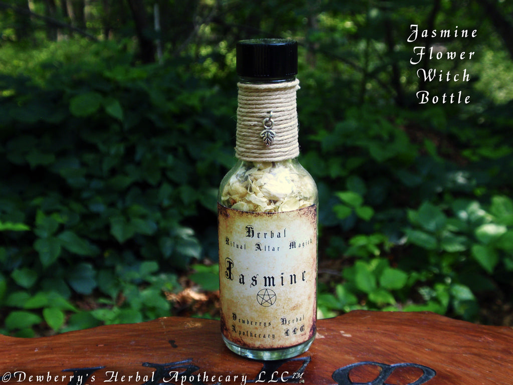 Jasmine flower herbal ritual magick mini witch bottle for teas love jasmine flower herbal ritual magick mini witch bottle for teas love moon rites izmirmasajfo