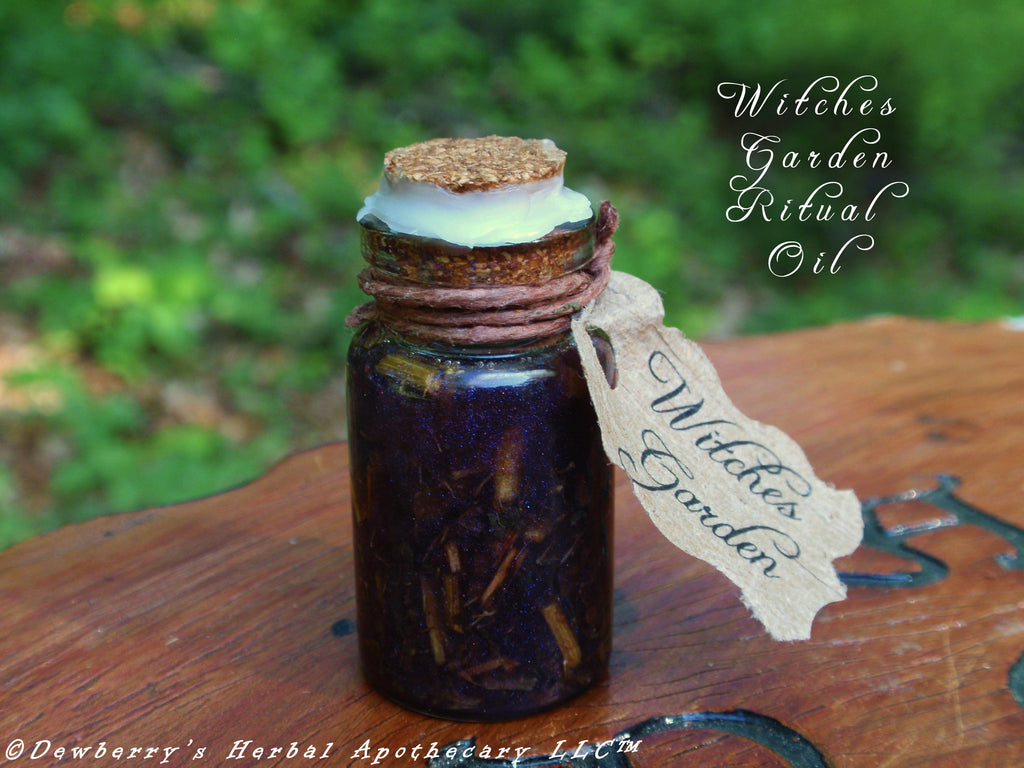 WITCHES GARDEN Traditional Witches Purple Ritual Potion Oil w/ 9 Sacred  Herbs Of Spellcraeft