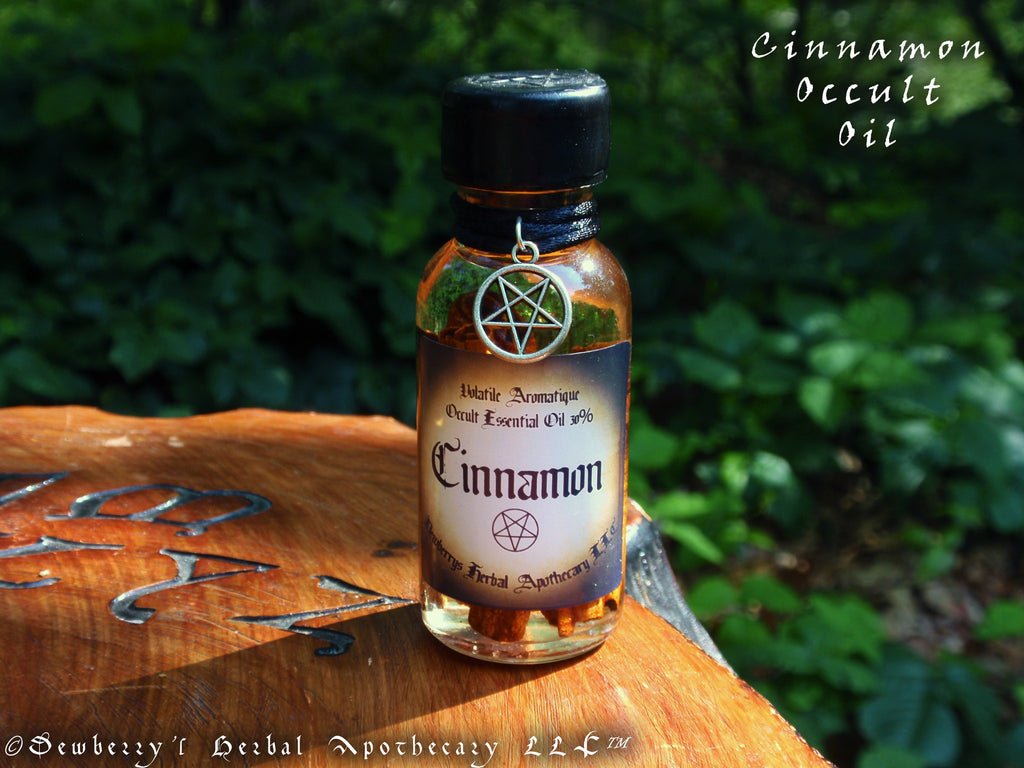 CINNAMON Occult Alquemie Essential Oil 30% For Oil Of Abramelin, Fire  Magick, Potions, Witchcraft