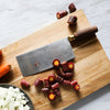 "8"" Chinese Vegetable Cleaver, Walnut Handle"
