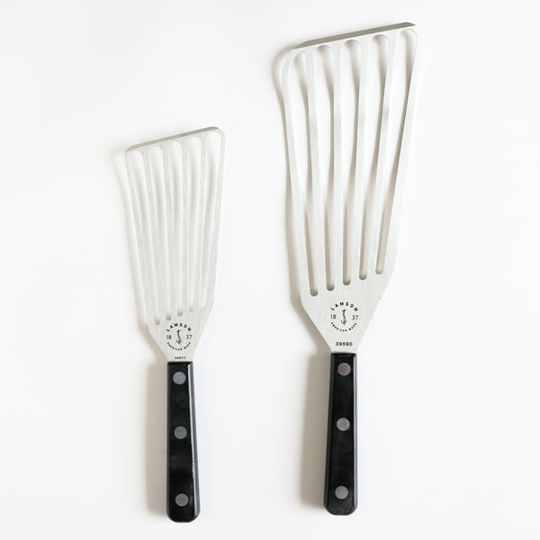 "Chef's Slotted Turners with POM Handle - 3"" x 6"" or 4"" x 9"" Right and Left Hand"