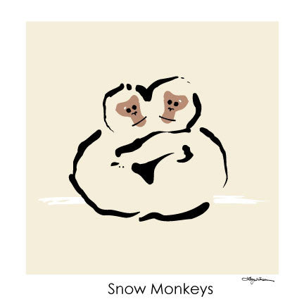 NEW LOW PRICE/Snow Monkeys