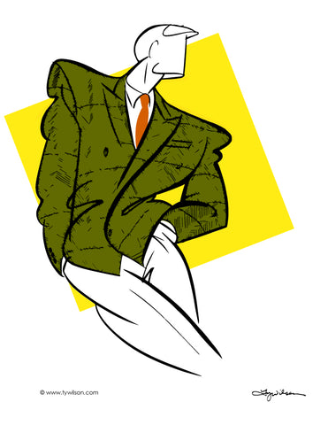 Fashion Illustration/Retro 80's Men's Fashion/Full Color No. l