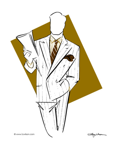 Fashion Illustration/Retro 80's Men's Fashion/Full Color No. ll