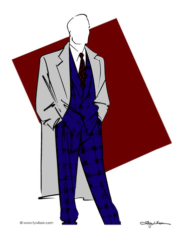 Fashion Illustration/Retro 80's Men's Fashion/Full Color No. lll