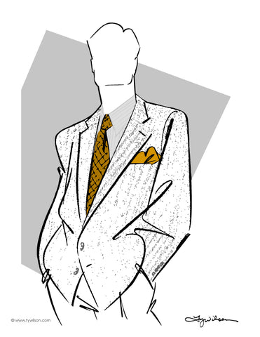Fashion Illustration/Retro 80's Men's Fashion/Full Color No. lV