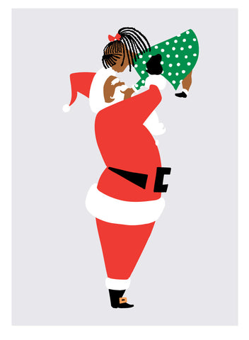 Black Santa with Little Girl