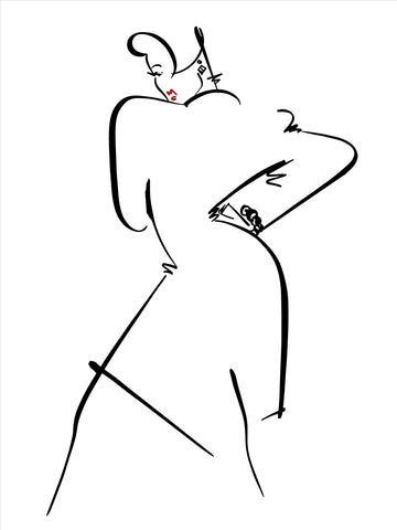 Fashion Illustration/Eve: Black & white 1 of 4