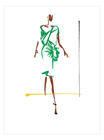 NEW LOW PRICE/Fashion Illustration No 10