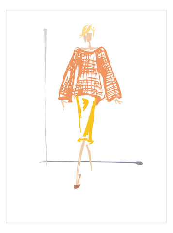NEW LOW PRICE/Fashion Illustration No 11