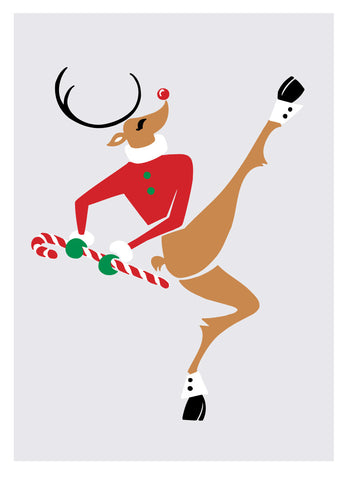 NEW LOW PRICE/Rudolph Kick-Dancing