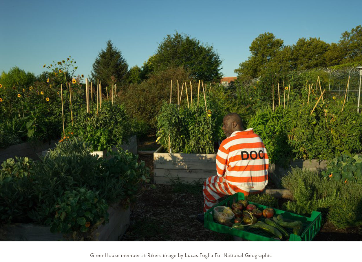 GreenHouse member at Rikers image by Lucas Foglia For National Geographic