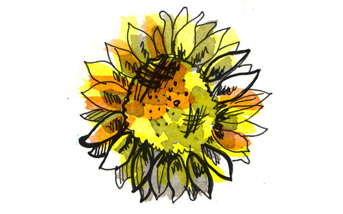 Sunflower Lapel Pin in Gold