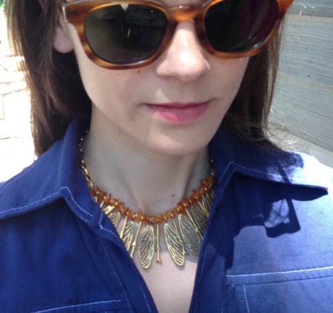 Cicada Bug Wing Necklace