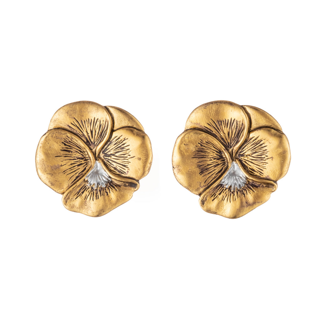 Pansy Clip Earrings