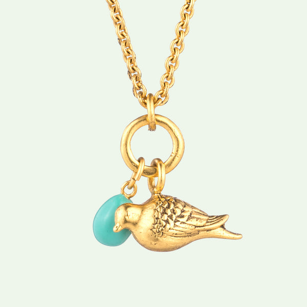 Peace Dove & Egg Necklace