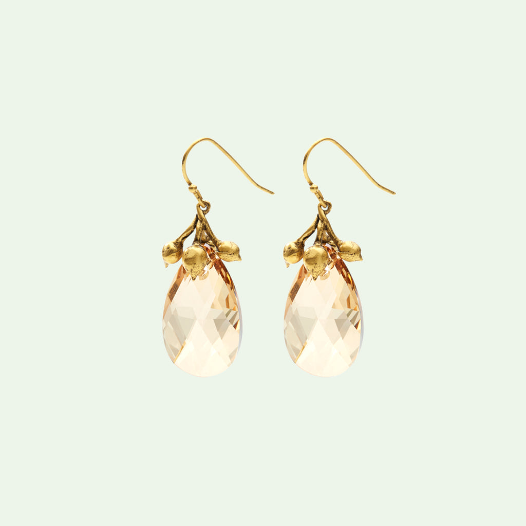 vine earrings-swarovski crystal