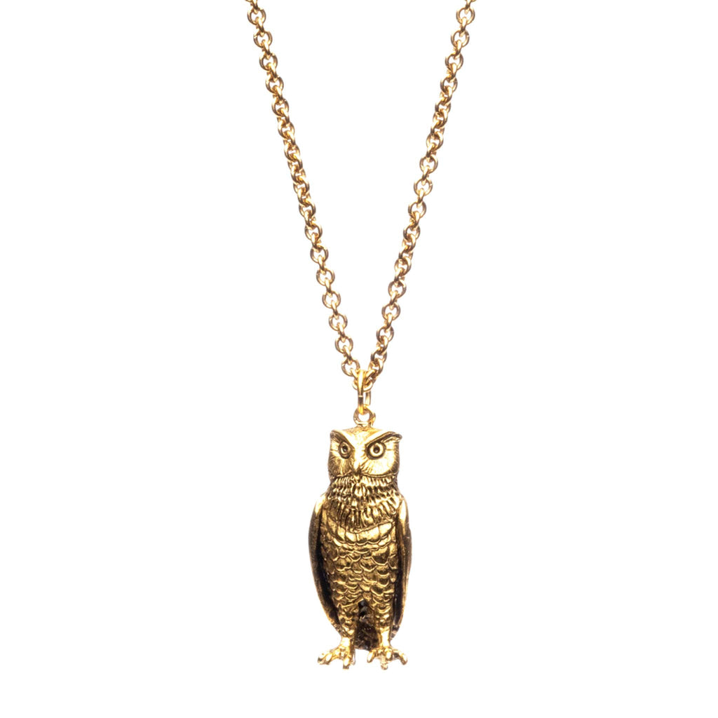 Gold Bubo the Owl Necklace