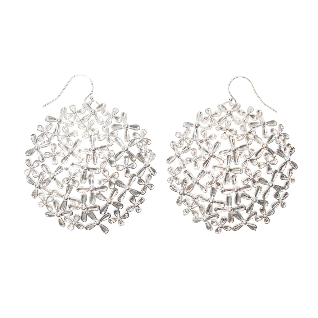 Millefleurs Silver Earrings