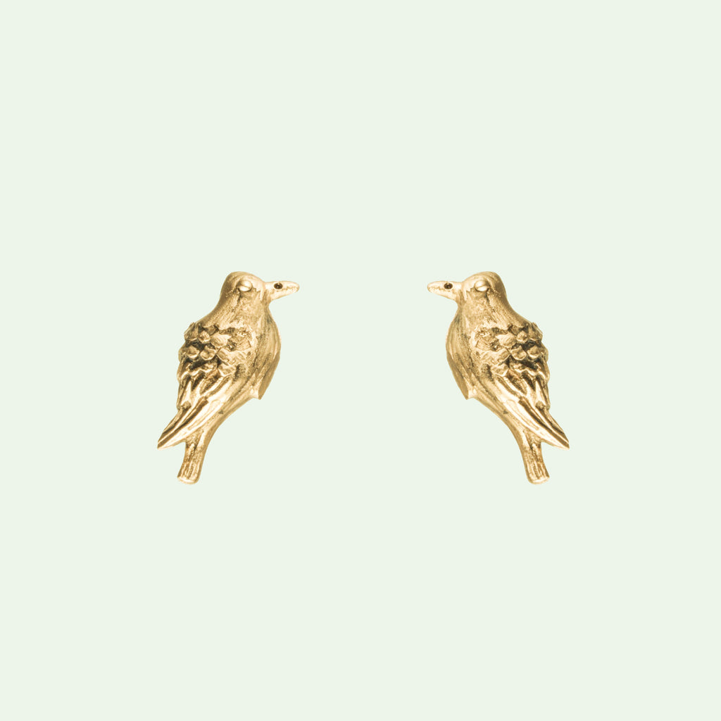 Peace Dove Stud Earrings